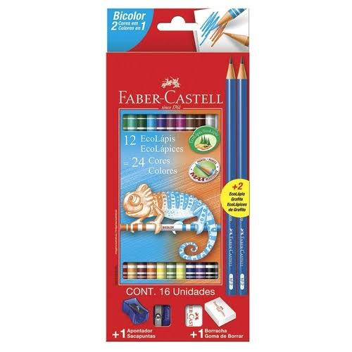 EcoLápis Bicolor + 2 EcoLápis Grafite - Faber Castell