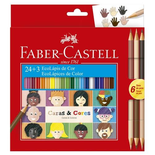 EcoLápis 24 + 3 Caras E Cores - Faber Castell