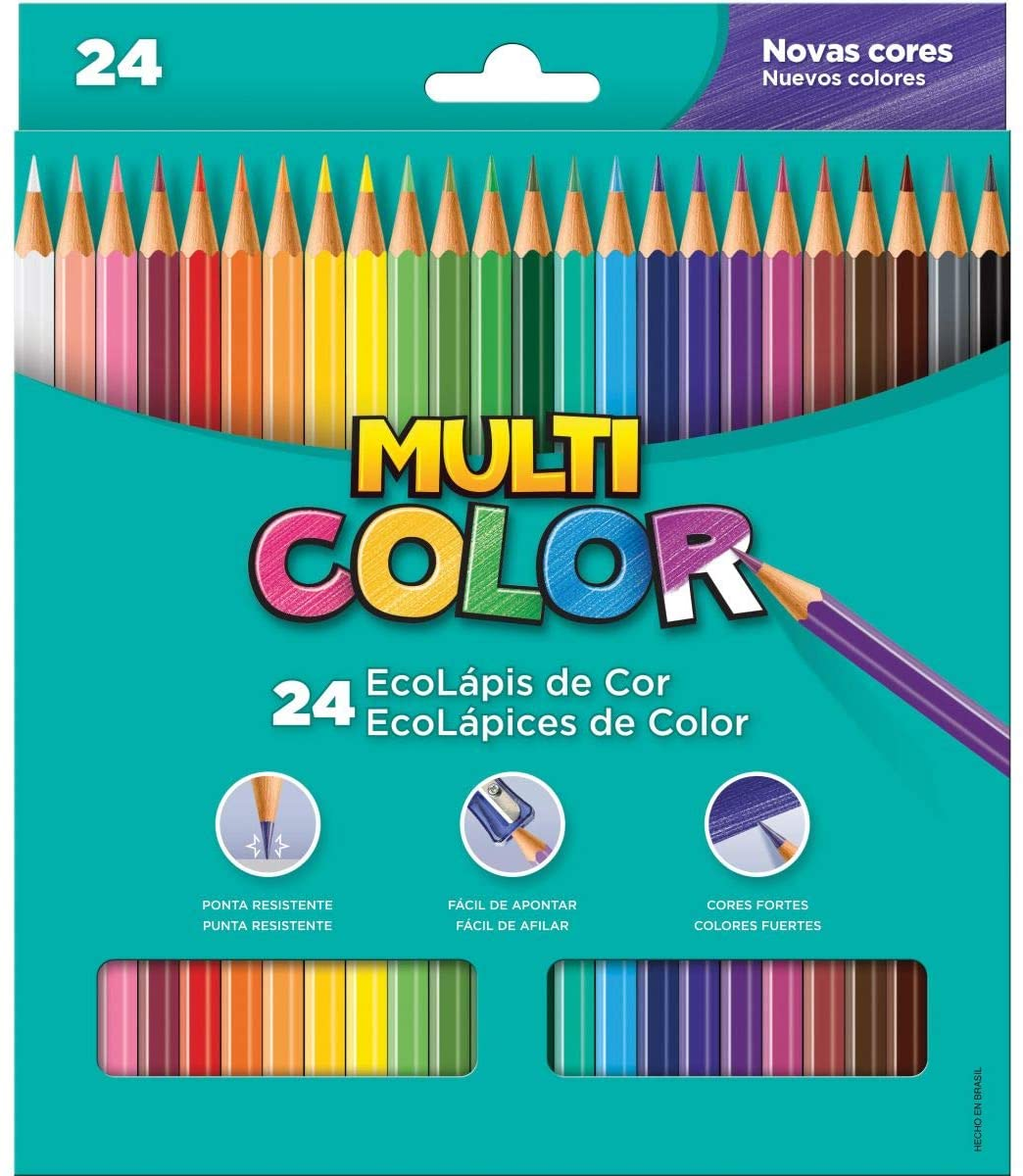 Ecolápis de cor - 24un - Multicolor