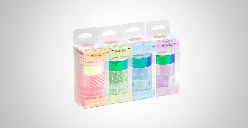 Fita Adesiva Washi Tape Candy c/ 06 Unid. - BRW