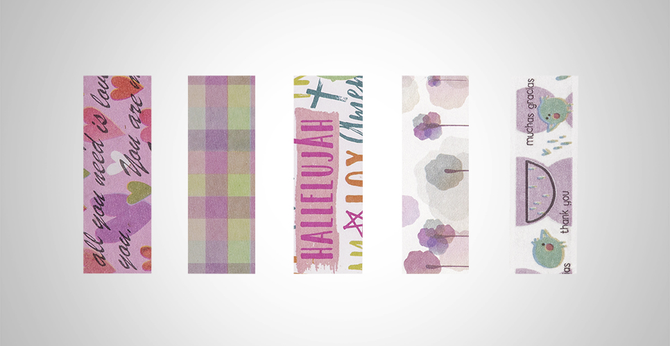 Fita Adesiva Washi Tape Cute 15MMx5M Caixa c/ 05 Unid. - BRW