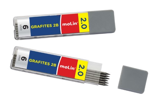 Grafite 2.0 2B c/ 06 Unid. - Molin