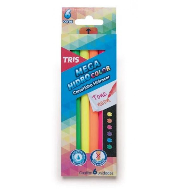 Hidrocor Megahidro Neon - 06 un - Tris