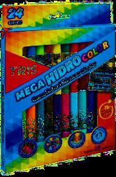 Hidrocor Tris Megahidro Duo - 12un 24 cores