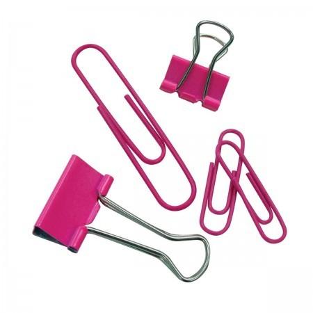 Kit Clips e Prendedor de Papel Rosa - Tilibra