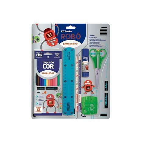 Kit Lápis de Cor 12 Cores Robô - LEO&LEO