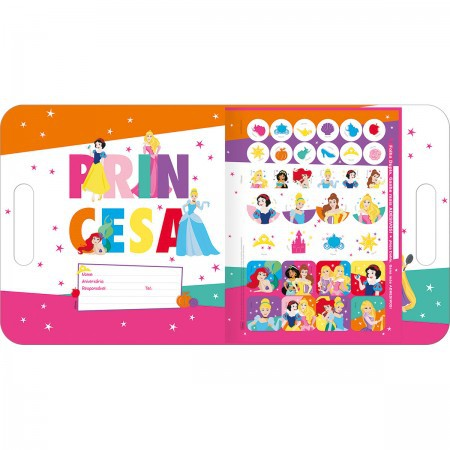 Maleta Princesas para colorir - Tilibra