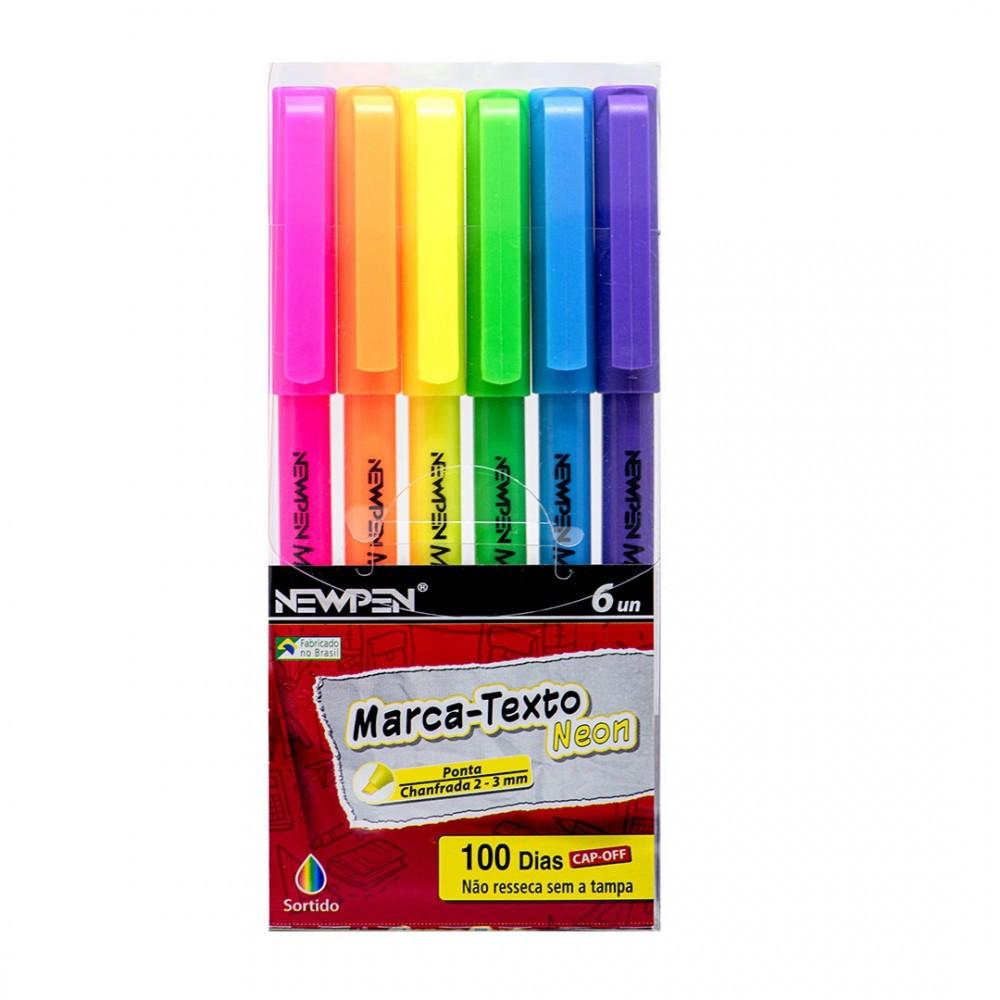 Marca-Texto Neon 6 Cores Newpen