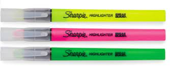 Marca-Texto Sharpie Clear View - Blister c/3
