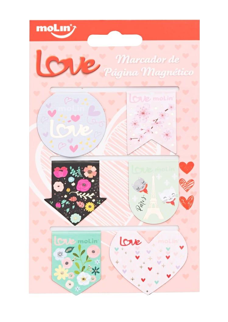 Marcador de Página Magnético Love - 06 un - Molin
