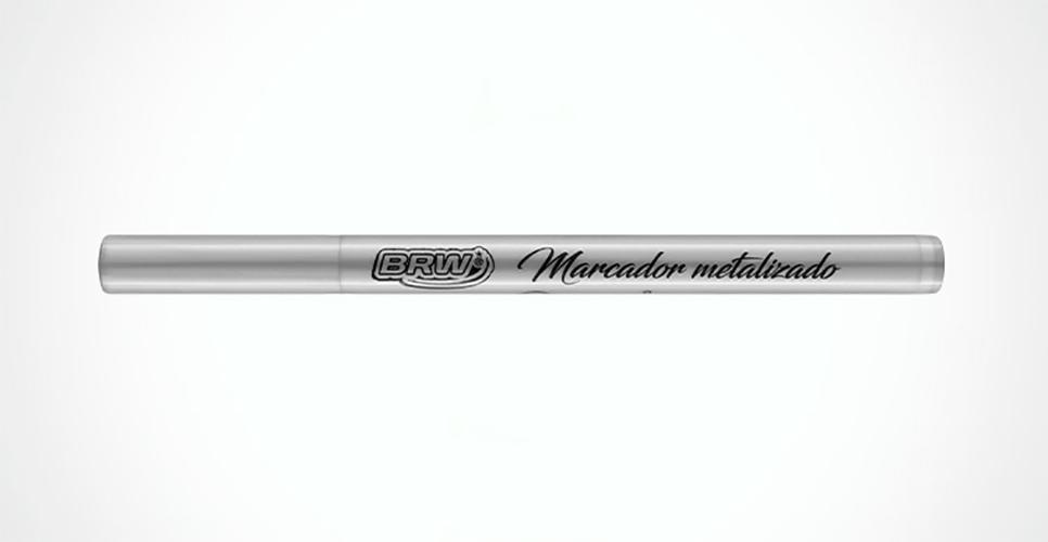 Marcador de Ponta Fina Metalizado Blister c/ 06 Unid. - BRW