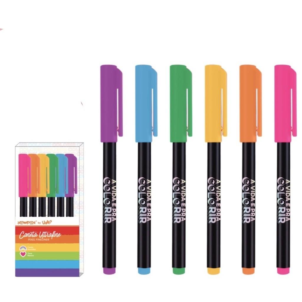 Marcador Ultrafine Pixel Neon By Uatt? Colorir - 06un - NewPen