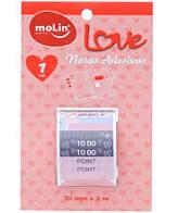 Notas adesivas em rolo lilás- Molin