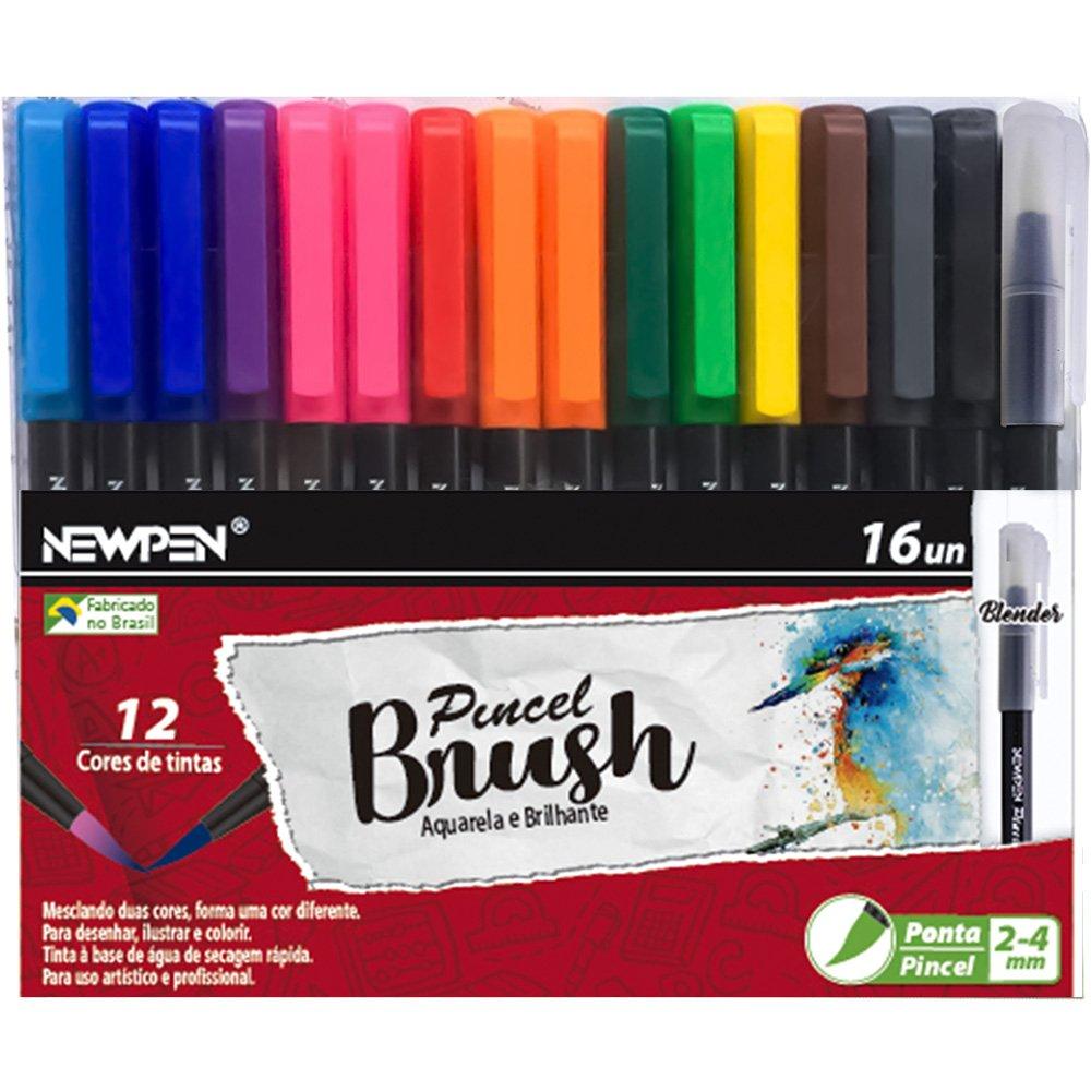 Brush Pen - 16un -  Newpen