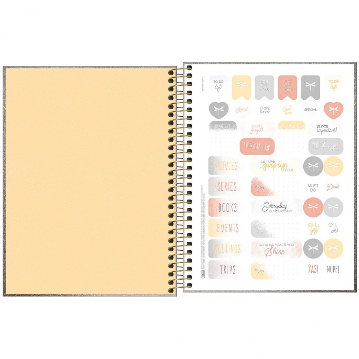 Planner Espiral Cambridge Shine 2020 - Tilibra
