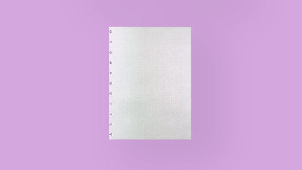 Refil Quadriculado Linha Branca - A5 90g