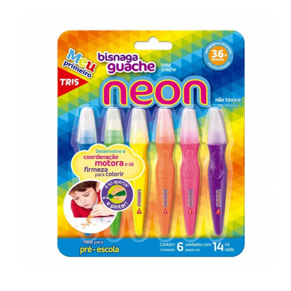 Tinta Guache Bisnaga Neon - 06 Un - Tris