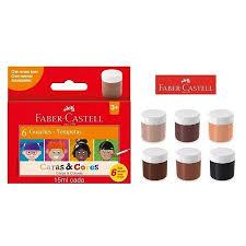 Tinta Guache Caras e Cores - 06 un - Faber-Castell