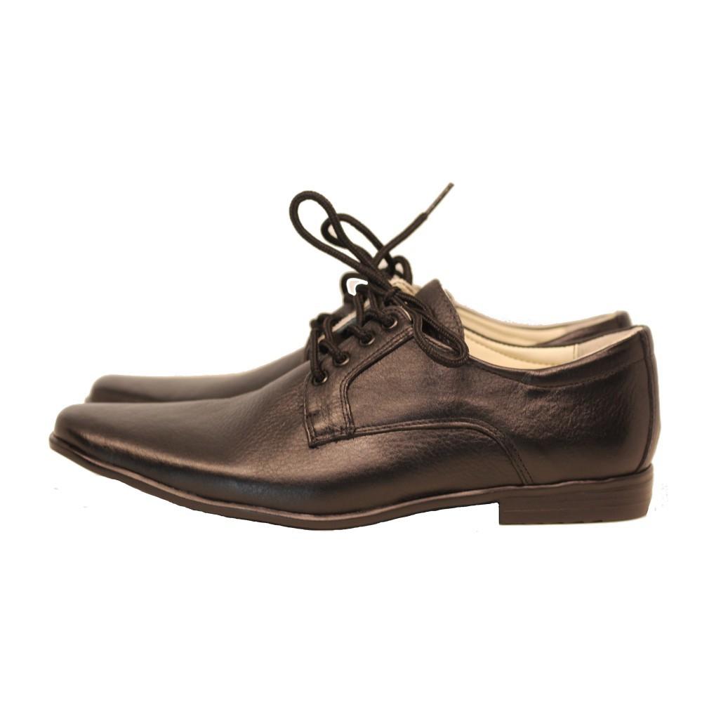 Sapato Social com cadarço  Couro Legítimo preto