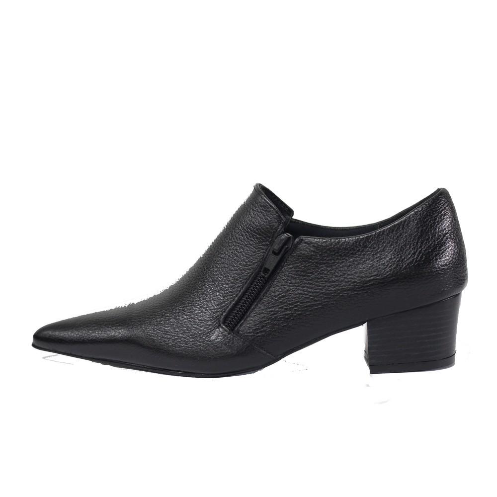 Sapato Social Feminino em Couro Salto Grosso 4 cm