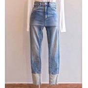 Calça jeans John John skinny barra clara