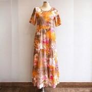 Vestido Babado Floral Rose 5 Marias