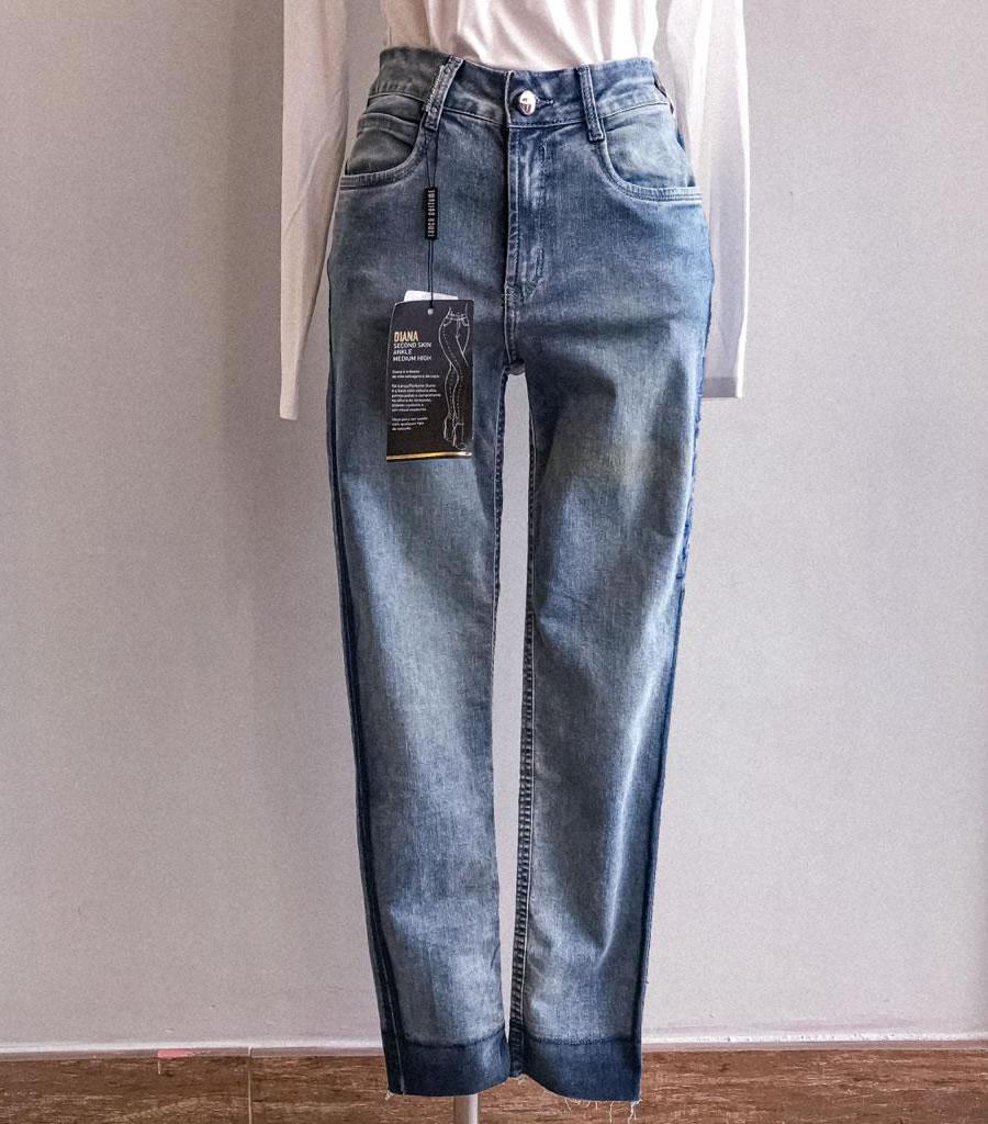 Calça jeans com bordado Lança Perfume