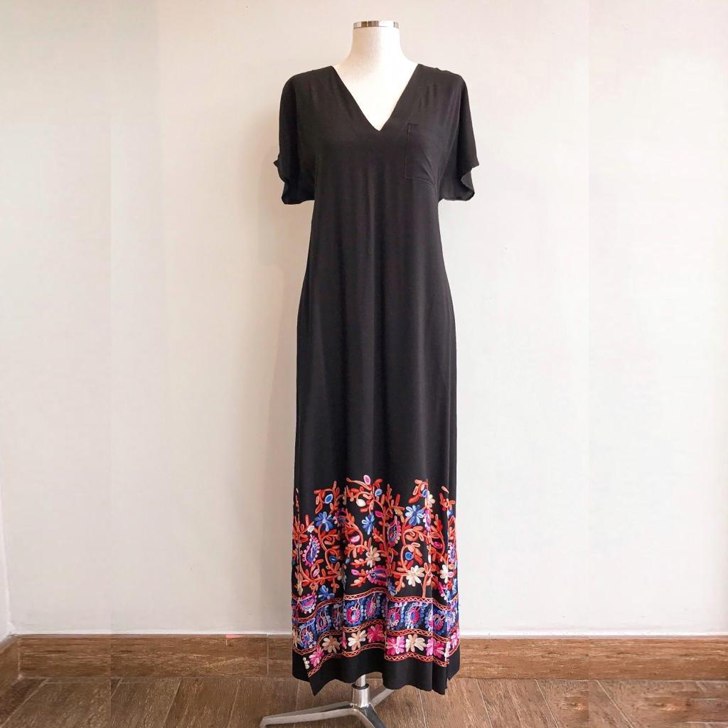 Vestido Midi Bordado 5 Marias