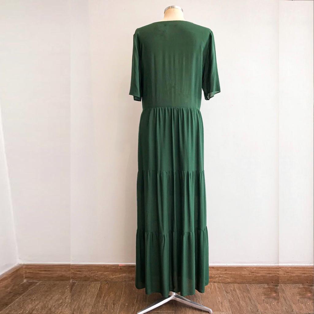 Vestido Verde Babado 5 Marias