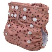 Fralda Ecológica Ajustável por Botões - Pintinhas da Onça - Bebês Ecológicos
