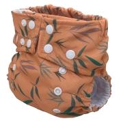Fralda Ecológica Ajustável por Botões - Plantinhas do Tamanduá - Bebês Ecológicos