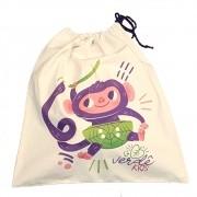 Porta Brinquedos e Sacola de Presente Mascote Verdê