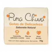 Sabonete Natural Gotas de Delicadeza - Cicatrizante, peles delicadas - Pura Chuva
