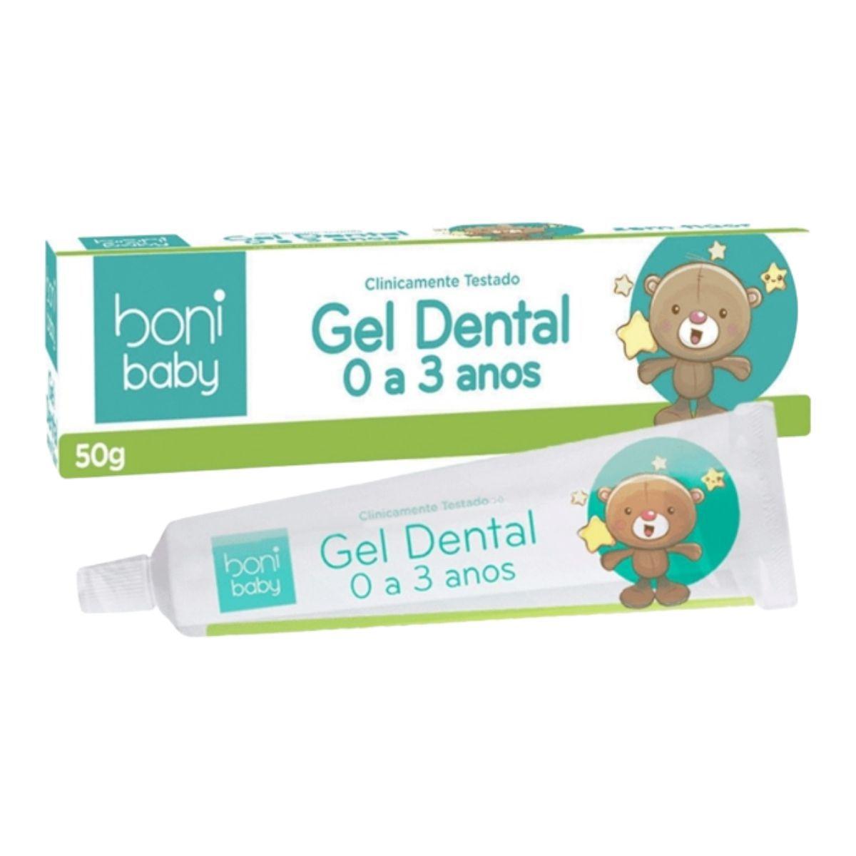 Kit Gel Dental Sem Flúor - Boni Baby
