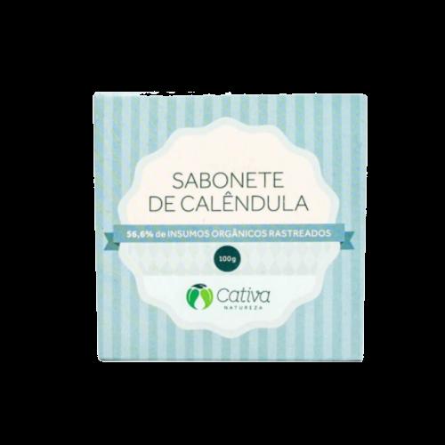 Sabonete de Calêndula Orgânico - Cativa Natureza