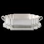 Centro de Mesa em prata com Presentoir Elegance 66 X 36 cms
