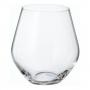 Jogo Copos Whisky 6 peças Cristal Bohemia com Titanium Mergus 500 Ml