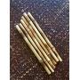 Jogo de Canudos em Bambu Natural 6 pçs