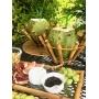 Porta coco em bambu Natural