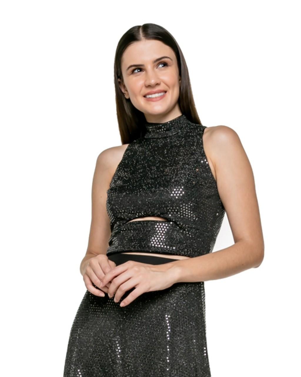 Blusa Cropped de Paetês
