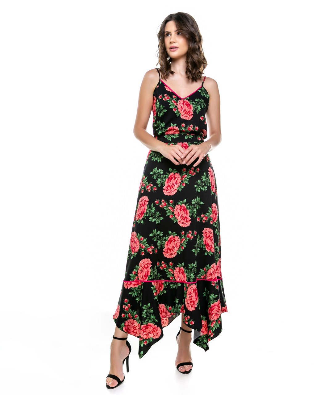 Blusa de Alcinhas Estampa Floral