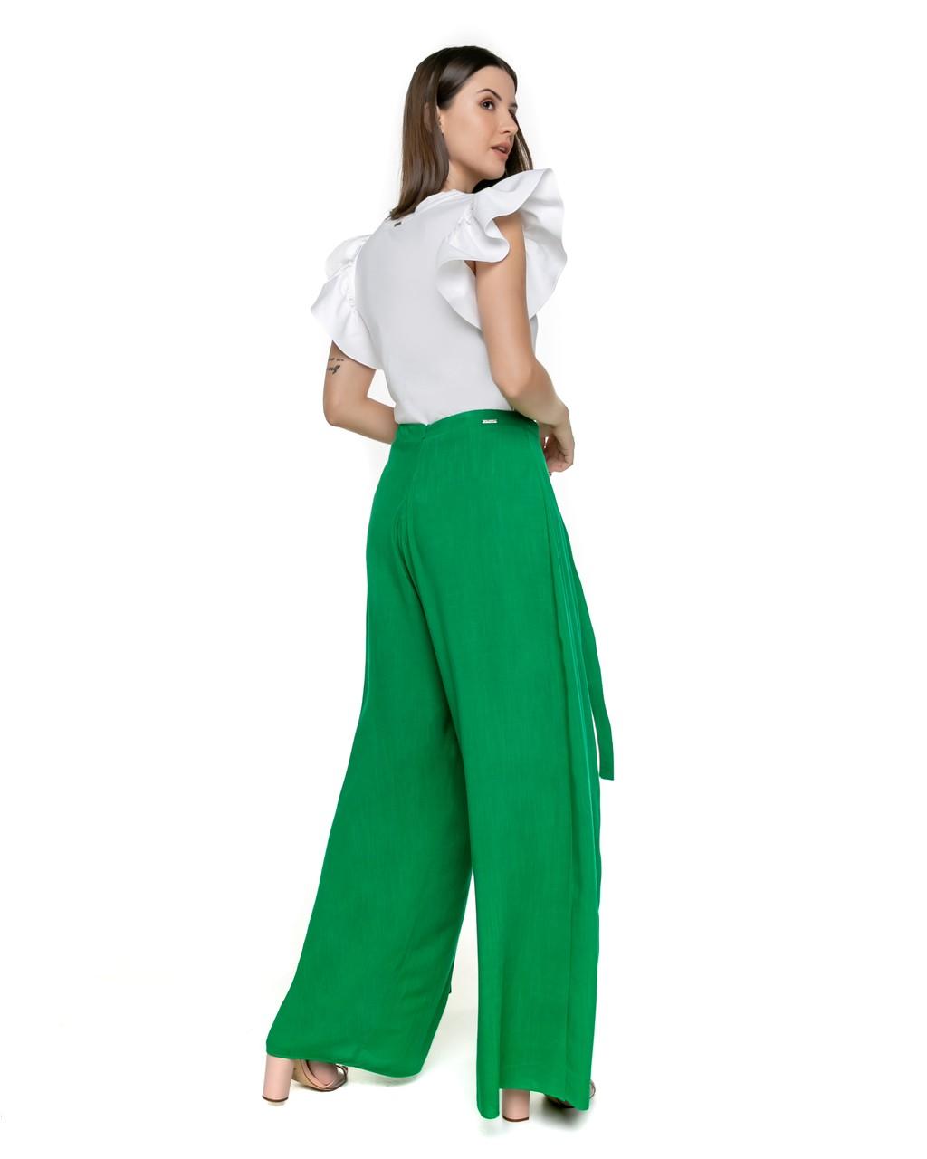 Calça Pantalona  com Amarração