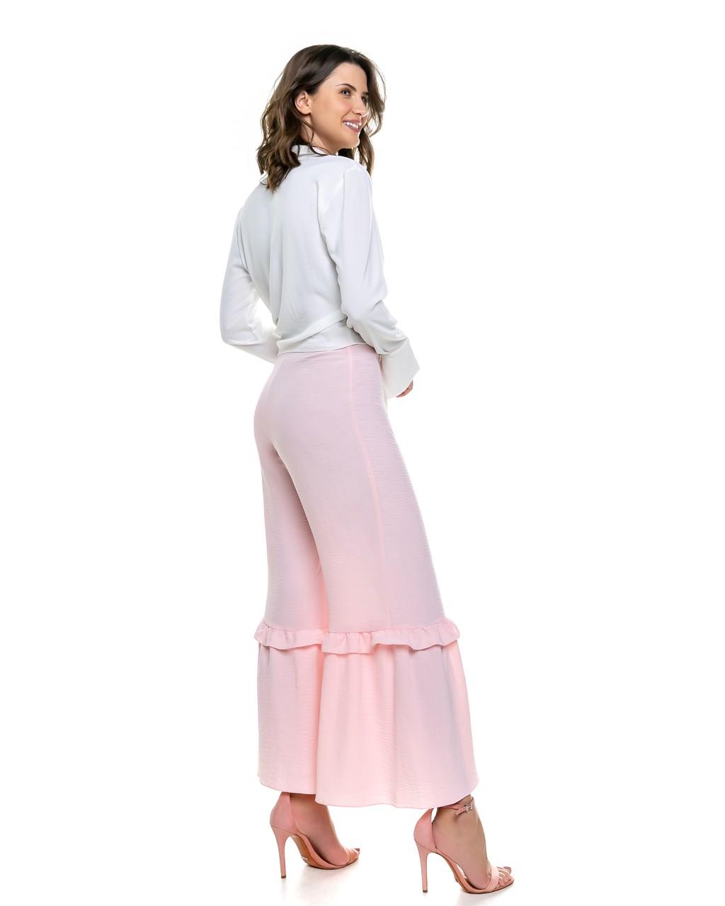 Calça Pantalona com Babadinhos
