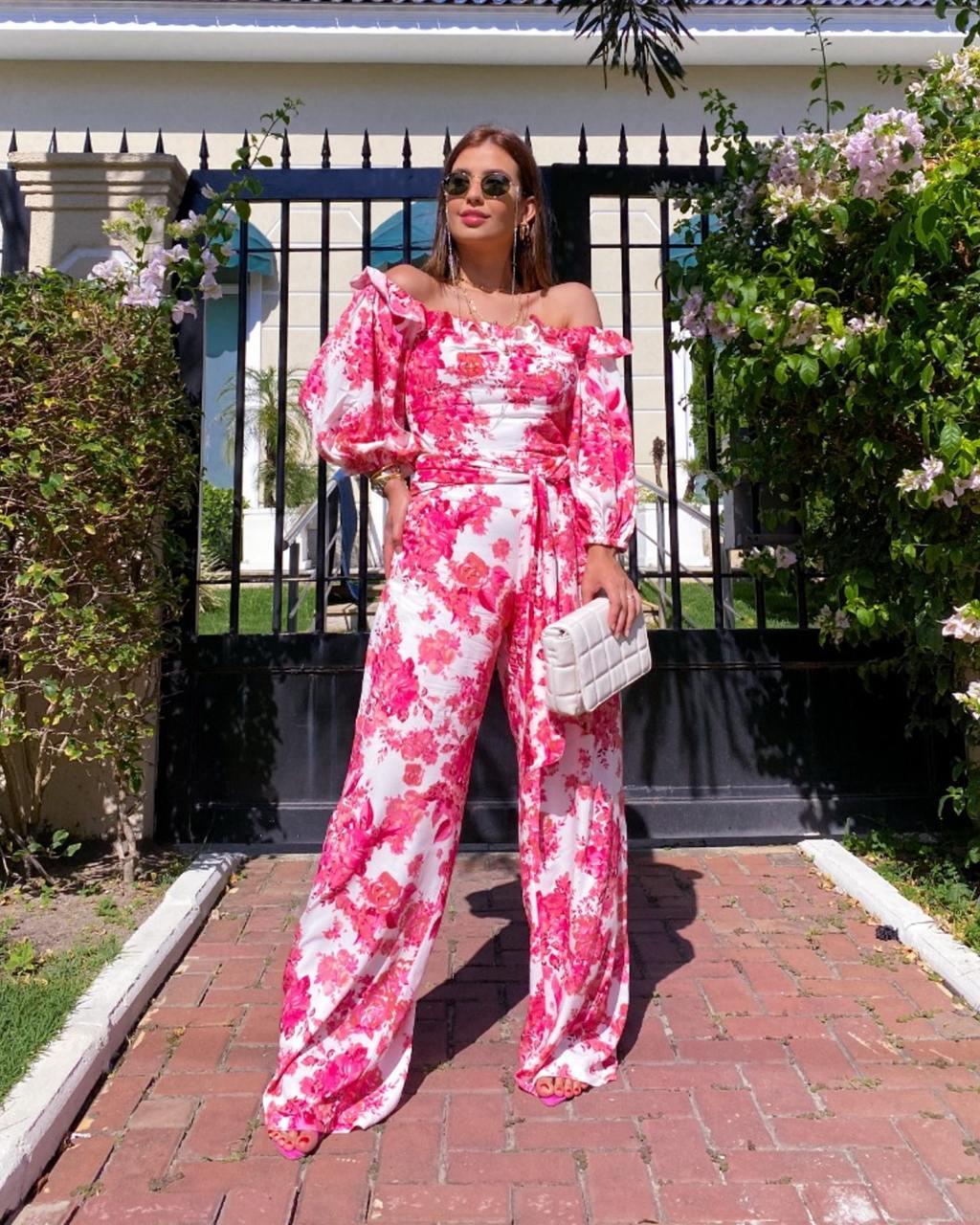 Calça Pantalona Estampada Floral