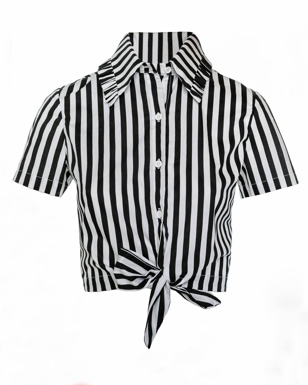 Camisa Listrada com Amarração