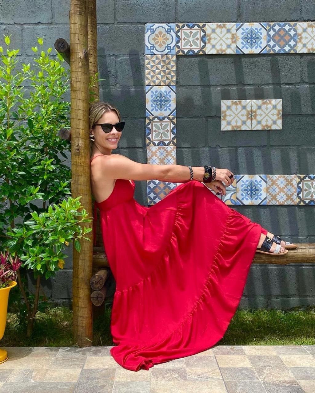 Vestido Longo de Alcinhas