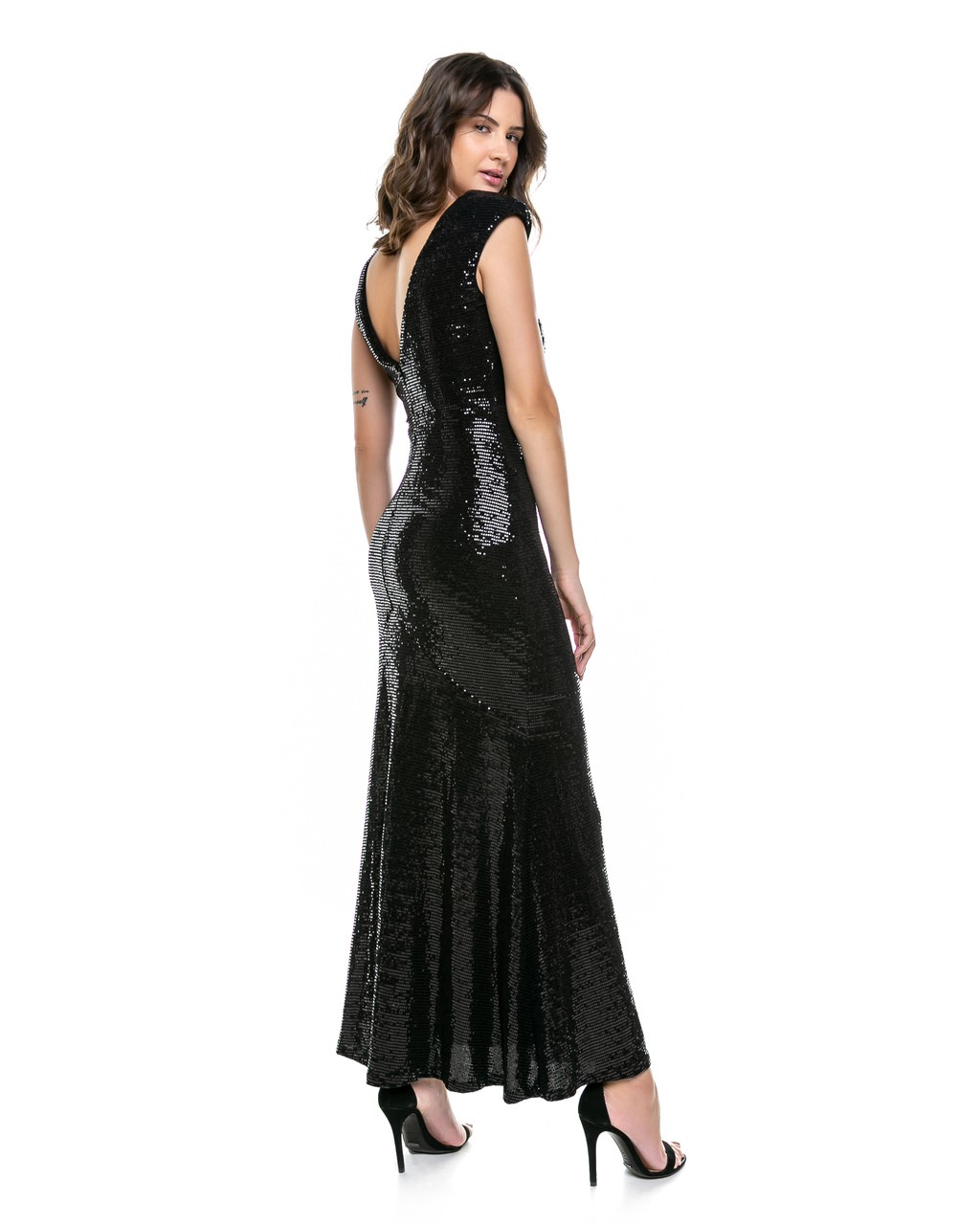 Vestido Longo de Paetês