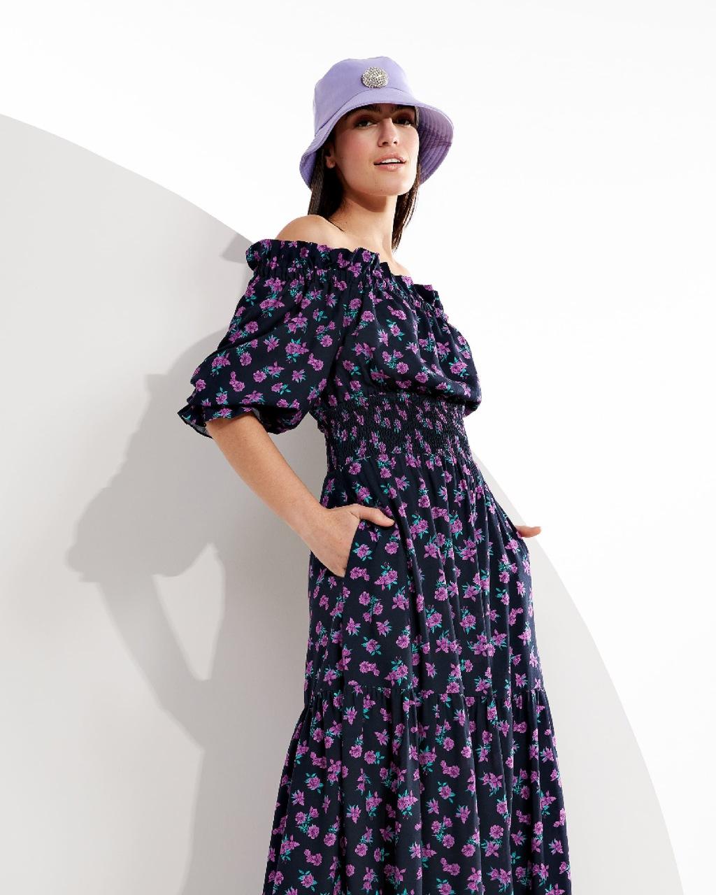 Vestido Longo Fluido Floral