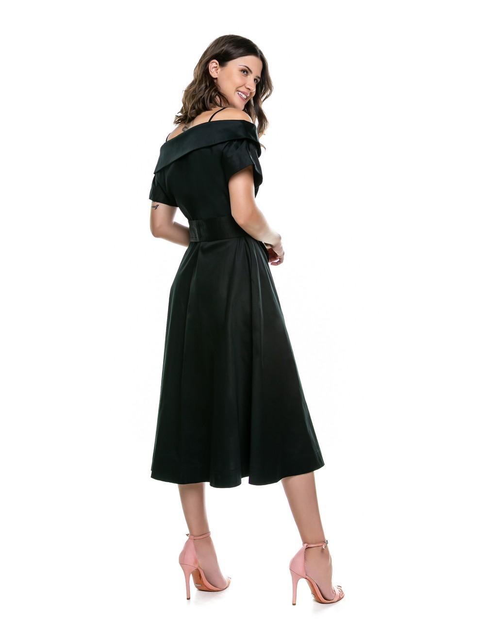 Vestido Midi com Amarração