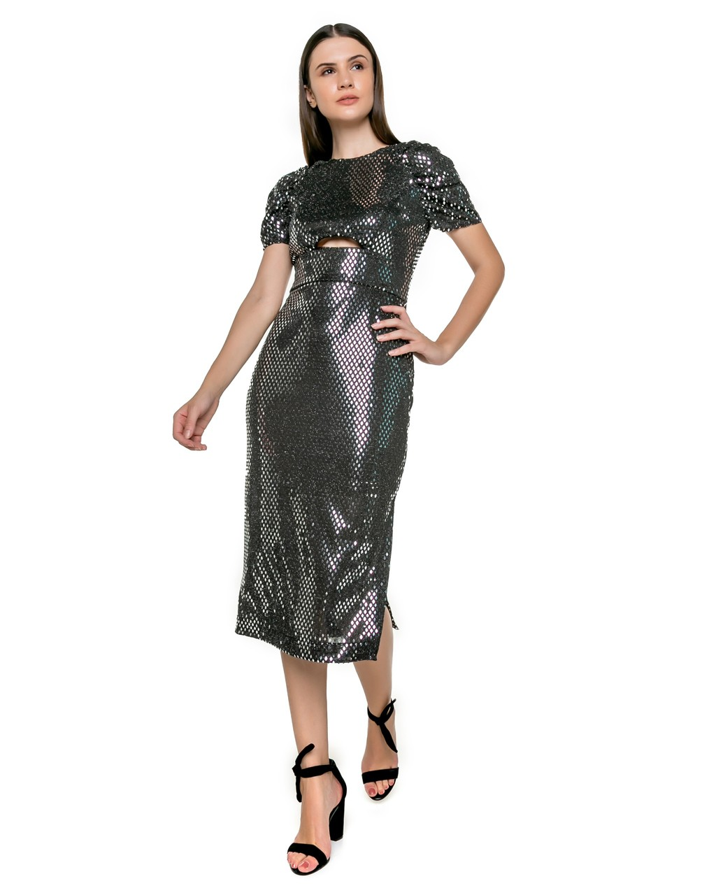 Vestido Midi de Paetês
